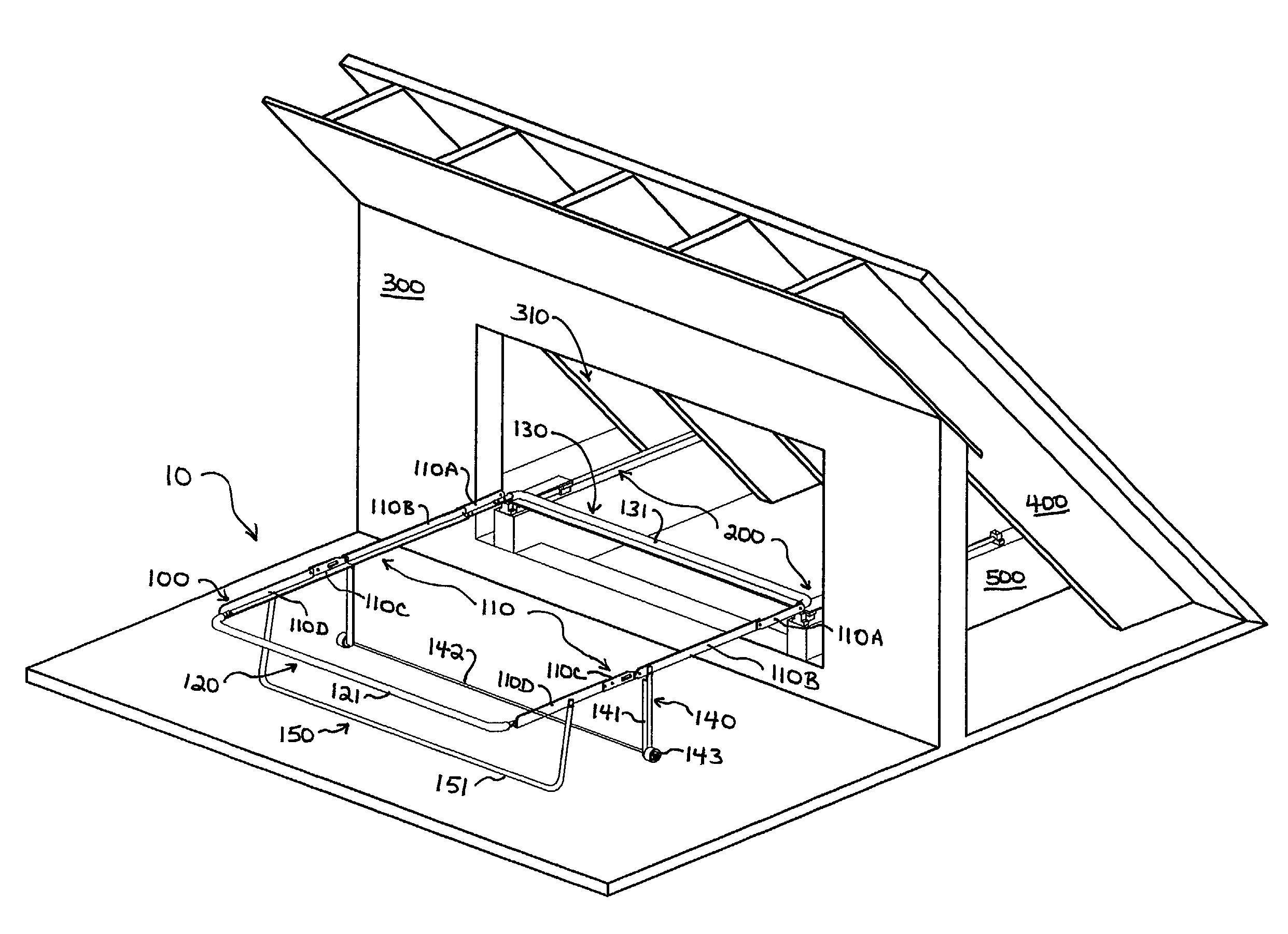 Patent US Knee wall bed Google Patents