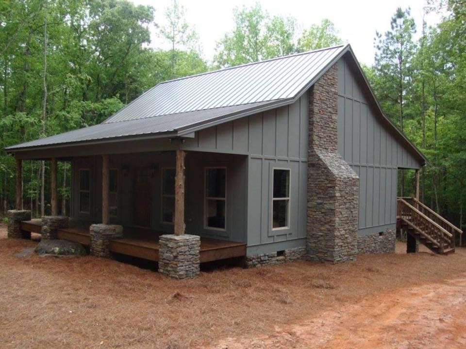 Woodland metal house bee smart building llc 22 photos for Metal building cabin