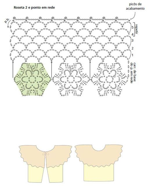 Bolero. Schema. | CROCHÊS E AFINS ( Crochets and same ) | Pinterest ...