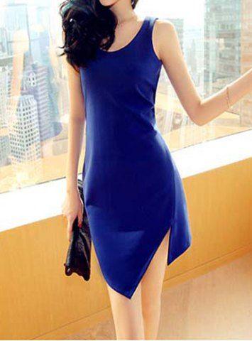 Simple Scoop Neck Sleeveless Irregular Hem Bodycon Women's Sundress Summer Dresses | RoseGal.com Mobile
