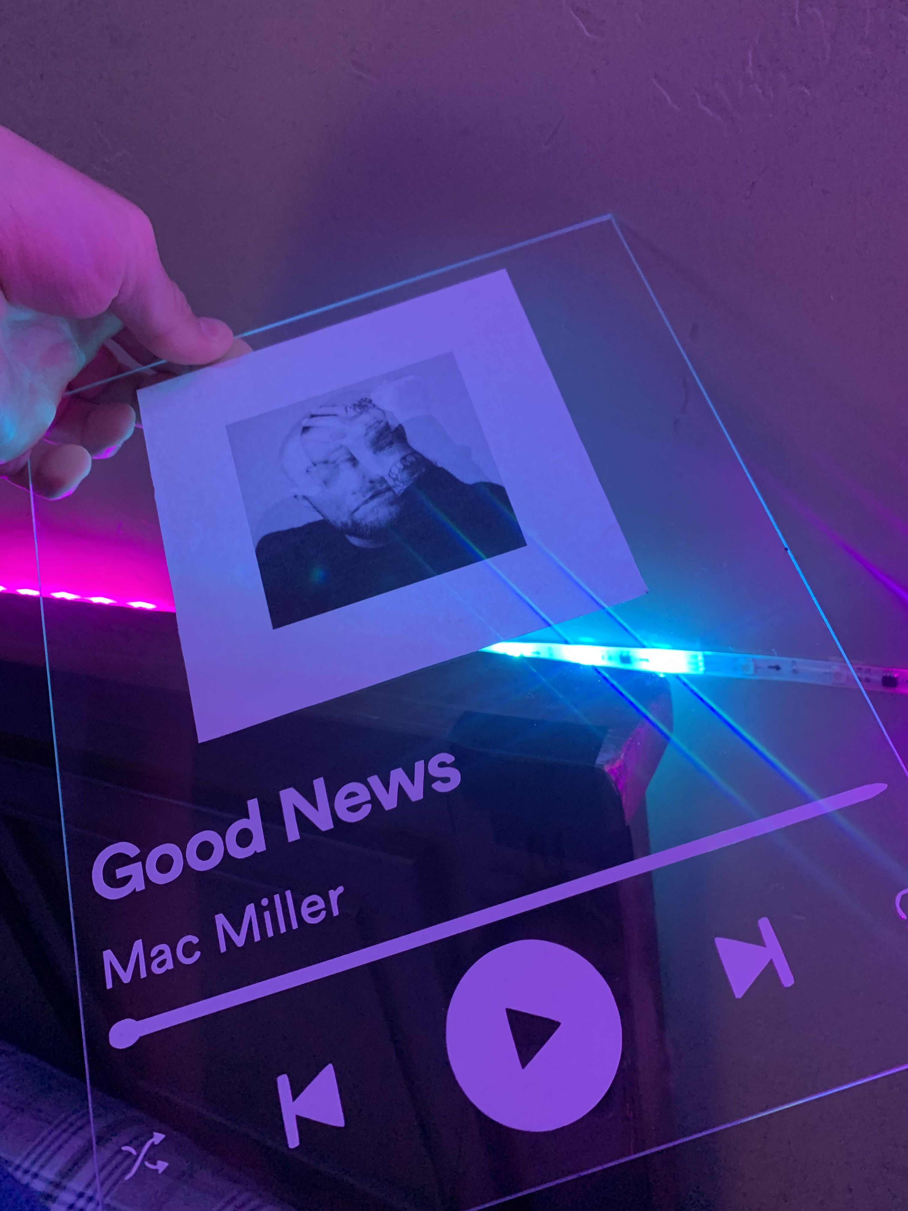 Photo of Custom Spotify Glass Panels ANY SPOTIFY SONG