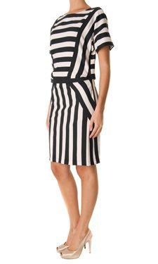 Marc by Marc Jacobs #blackandwhite striped dress
