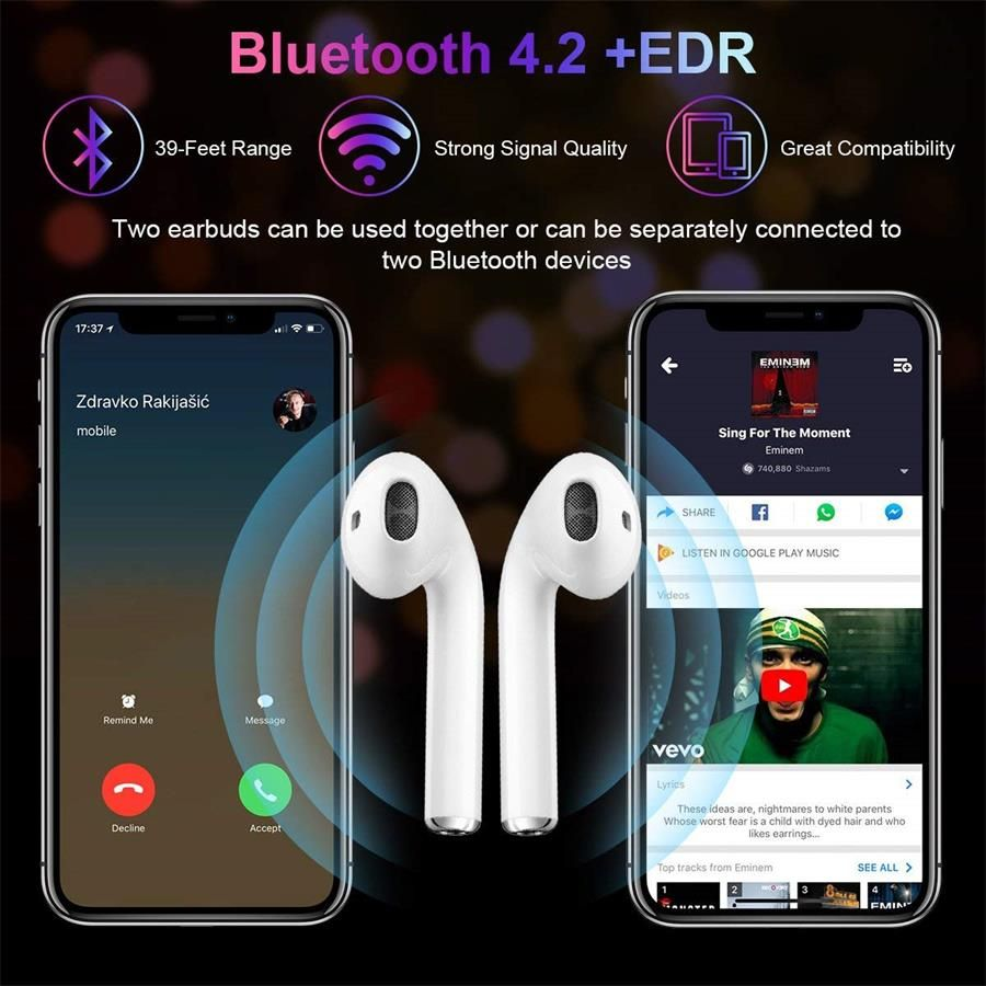 I7 BLUETOOTH EARPHONES COMPATIBLE WITH ALL PHONES!!