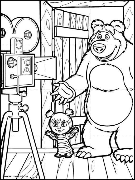 Puzzles Rompecabezas para imprimir para niños Masha y el Oso 9 ...