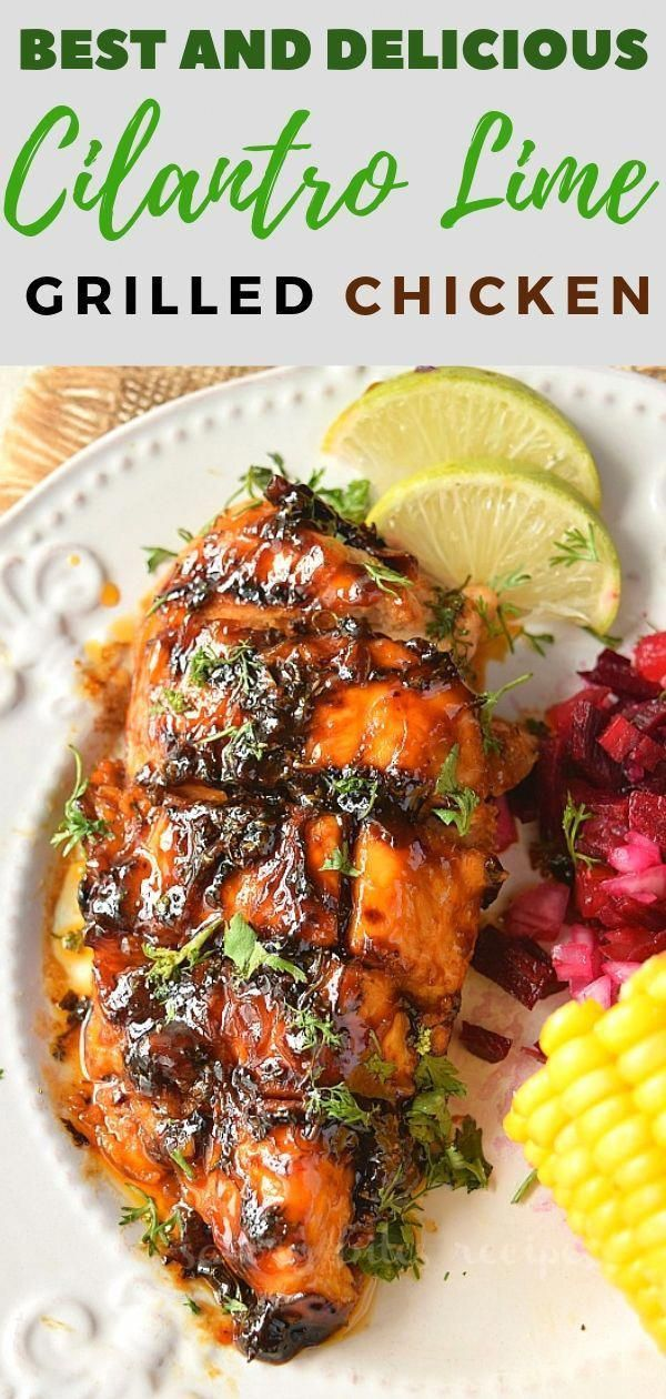 Summer calls for grilling recipes and you are going to love this Grilled Cilantro Lime Chicken. Serve this grilled chicken with salsa,corn on the cob or rice.