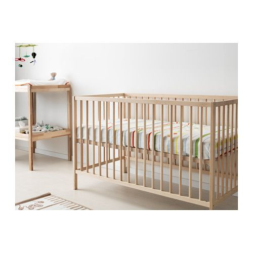 sniglar crib beech nursery style mid century modern ikea sniglar crib ikea crib cribs. Black Bedroom Furniture Sets. Home Design Ideas