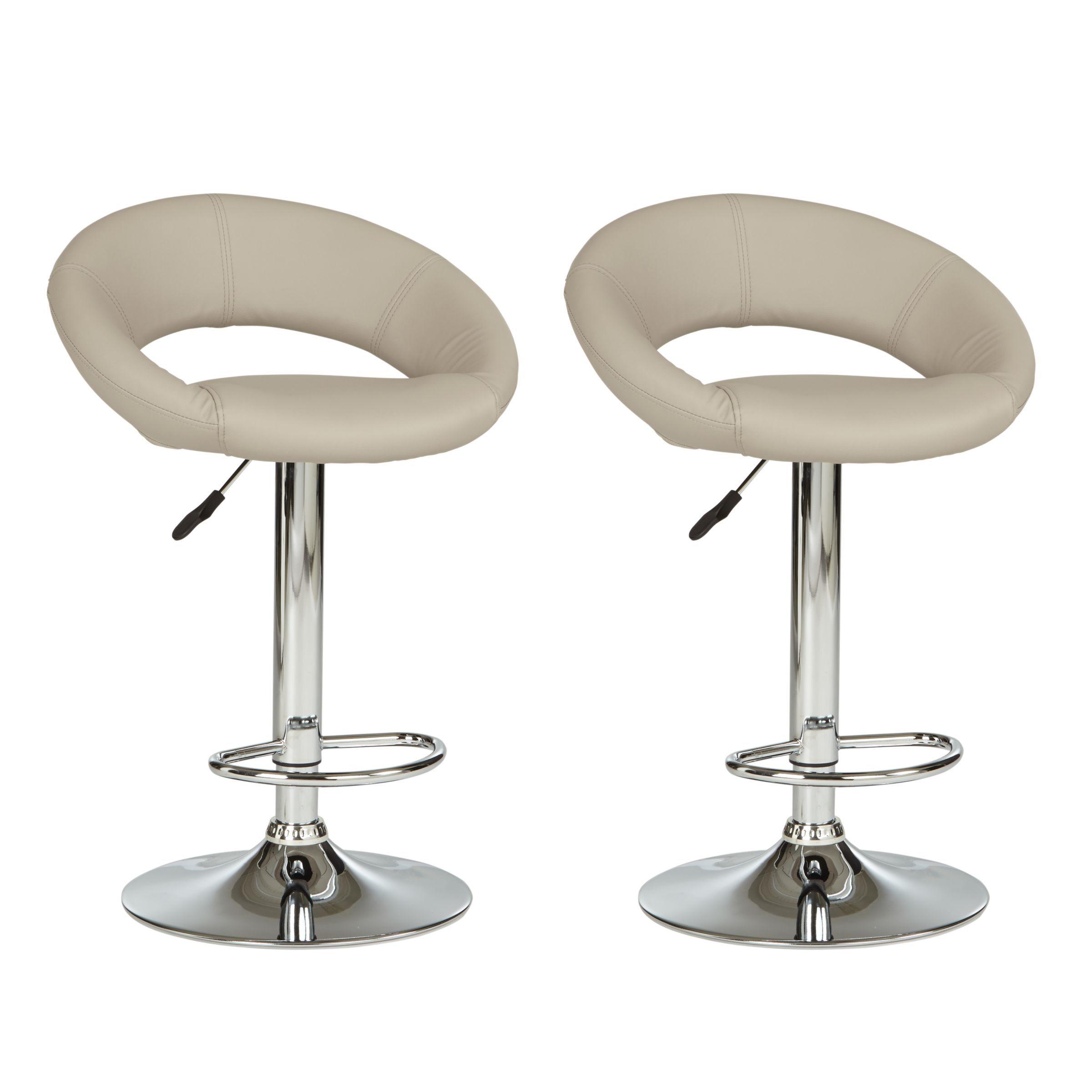 john lewis  partners oliver bar stools set of 2 taupe