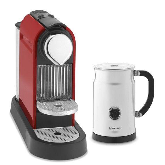 Nespresso Citiz Espresso Maker with Aeroccino Plus Automatic Milk Frother   Williams-Sonoma