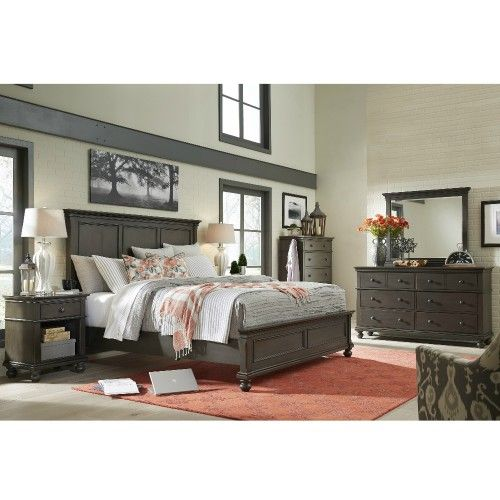 Oxford Bedroom Set in Peppercorn by Aspenhome Dream Home - Used Bedroom Sets