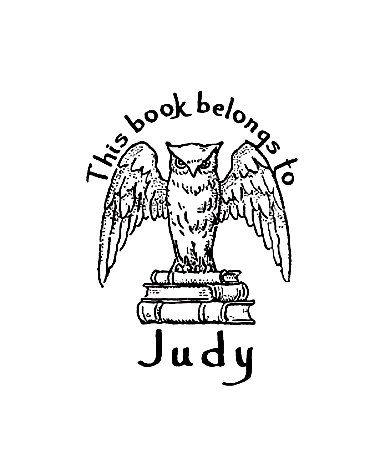 Owl Book Plate Ex Libris Custom Rubber Stamp Book Plates Owl Books Custom Rubber Stamps