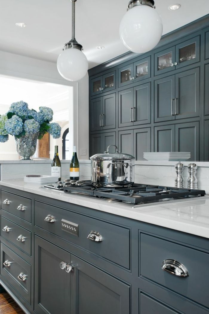 Comment repeindre une cuisine, idées en photos! Armoires, Kitchens - comment accrocher un meuble de cuisine au mur