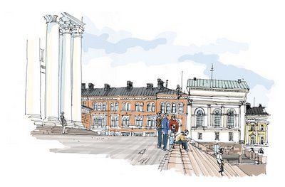 Kansikuva, Tuomiokirkon portailta