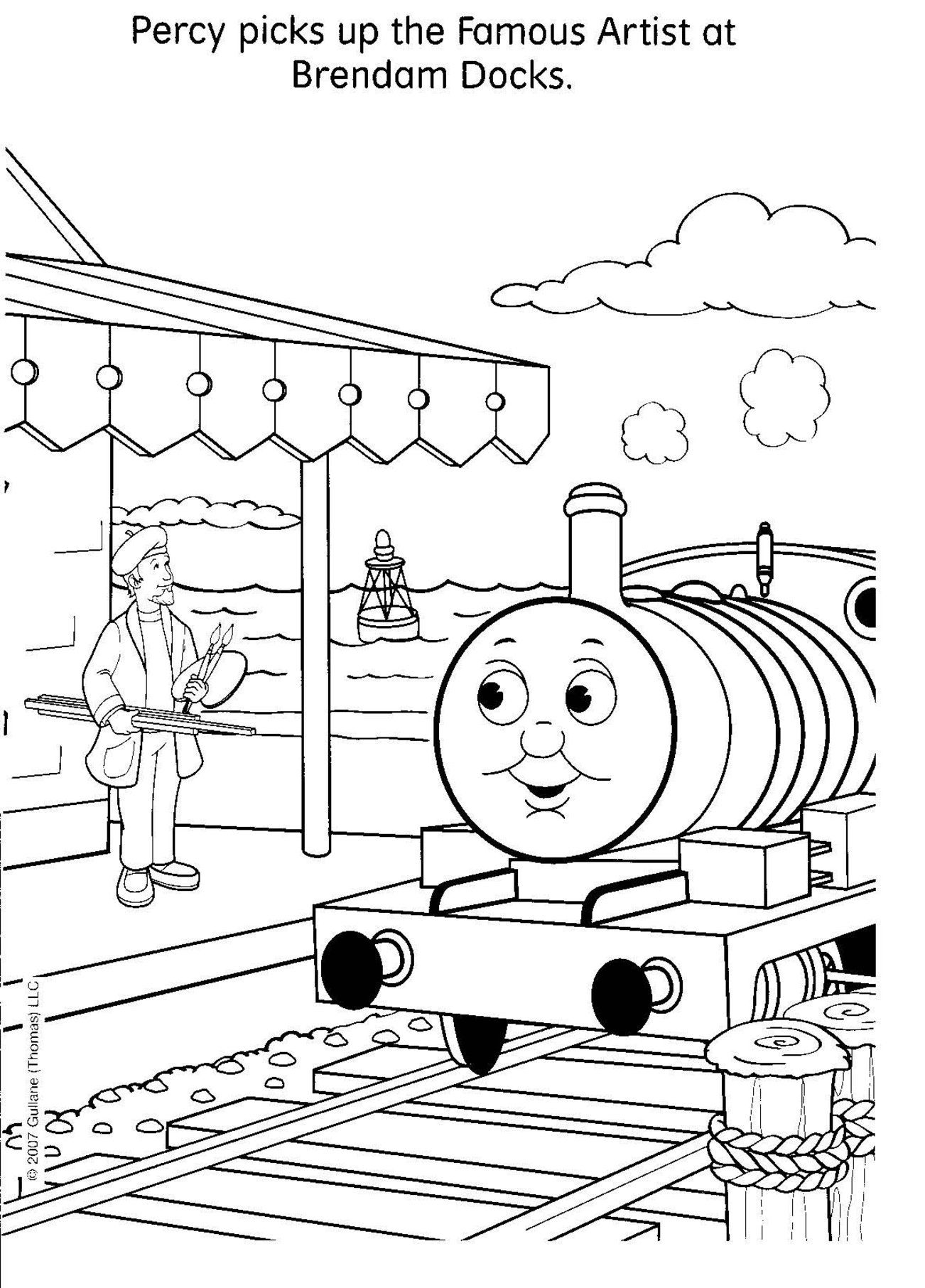 Mavis The Train Coloring Pages