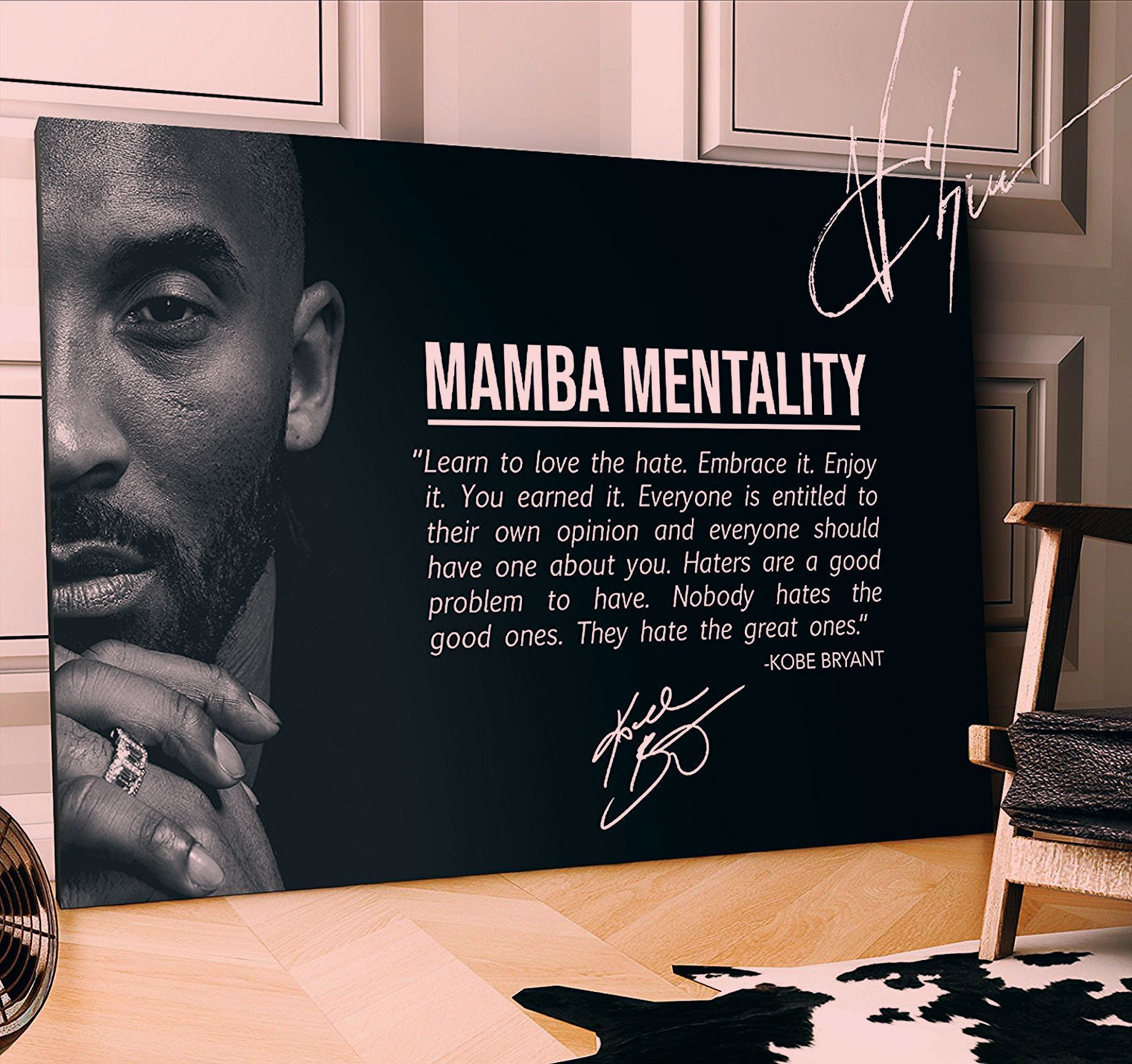 Photo of Kobe Bryant Canvas  that will remind you to work harder to become the best version of yourself