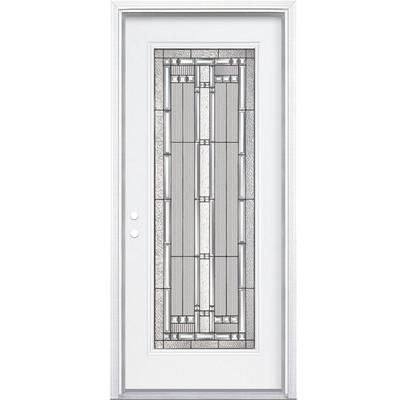 Charmant Masonite   34 Inch X80 Inch X4 9/16 Inch Elmhurst Antique Black Full Lite  Right Hand Entry Door With Brickmould   568172   Home Depot Canada $996.26