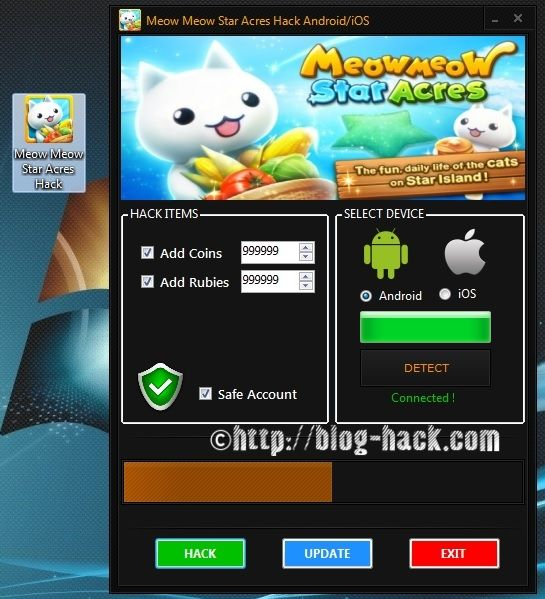 Meow Meow Star Acres Hack Coins and Rubies Android apk mod
