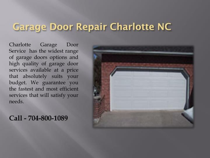 Garage Door Service Charlotte Nc Garage Door Service Garage Doors