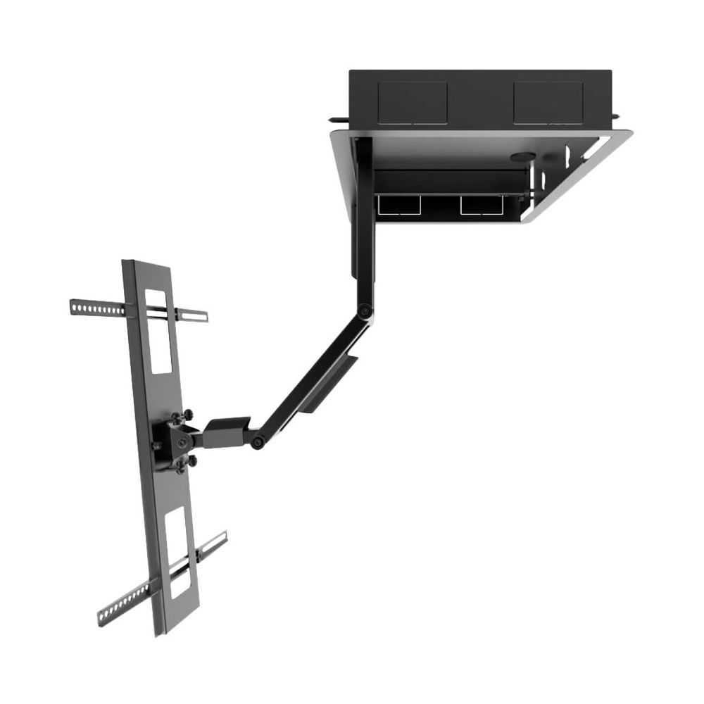 Kanto Recessed In Wall Full Motion Tv Mount For Most 46 80 Tvs Extends 27 6 Black In 2020 Mounted Tv Recess