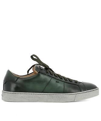 c36005c6aa6 Santoni Men s Mbgu20533paseg00v50 Green Leather Sneakers