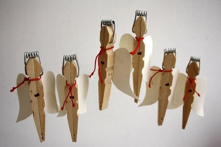 Photo of 23 coole Bastelideen mit Wäscheklammern zu Weihnachten