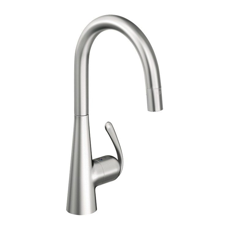 Grohe 32226000 Ladylux3 Cafe Touch Pull Down Kitchen Faucet With