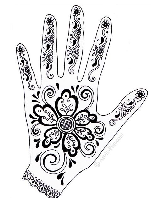Cara Melukis Tangan Dengan Henna : melukis, tangan, dengan, henna, Melukis, Henna, Sendiri, Dengan, Sangat, Mudah, Pemula, Desain, Henna,, Mehndi, Designs,