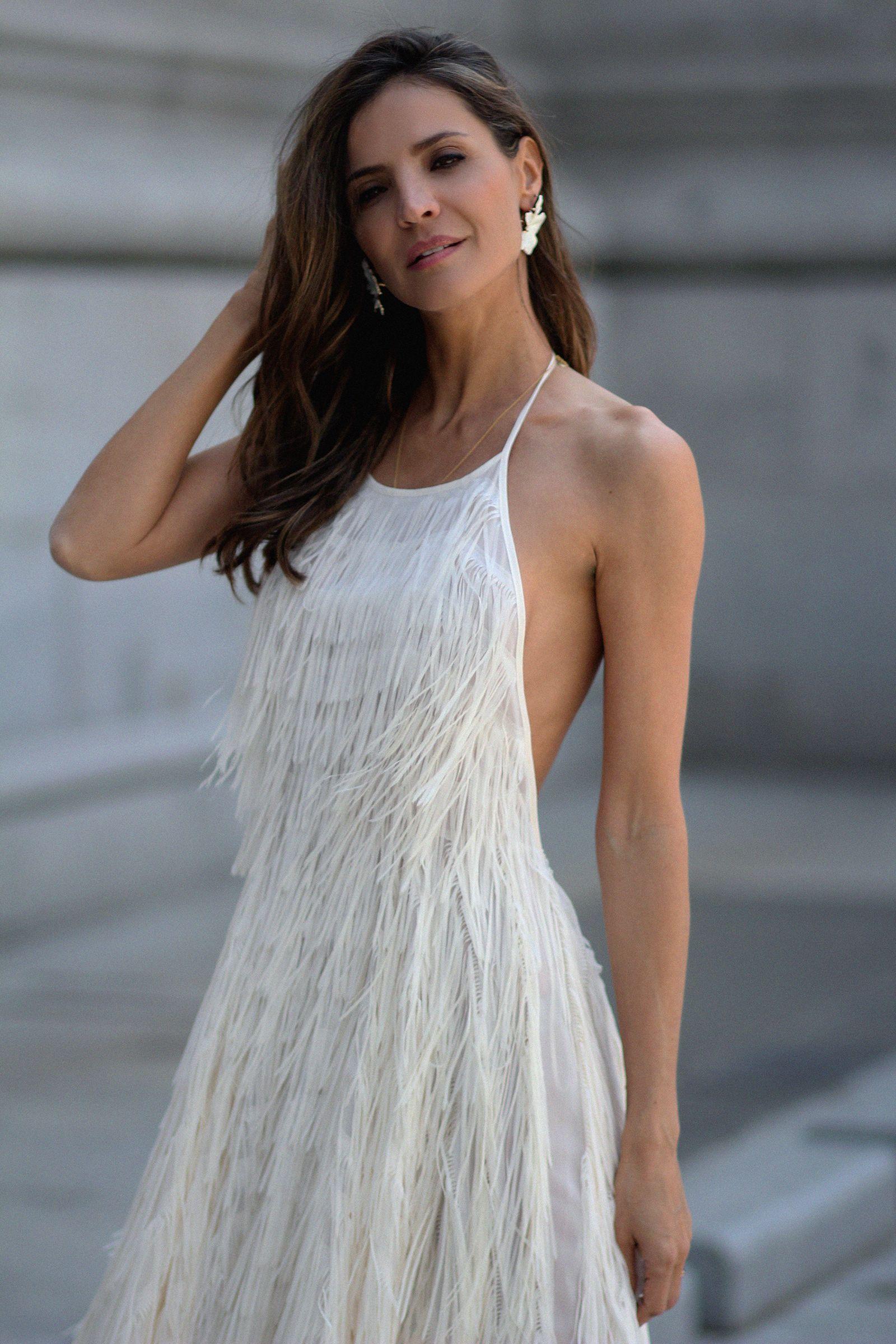 El vestido de flecos de Zara | Vestido con flecos, Vestidos