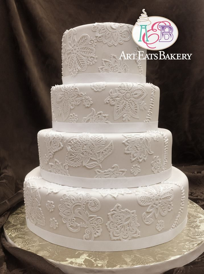 Romantic Elegant Lace Wedding Cake Idea Photos Home Decor