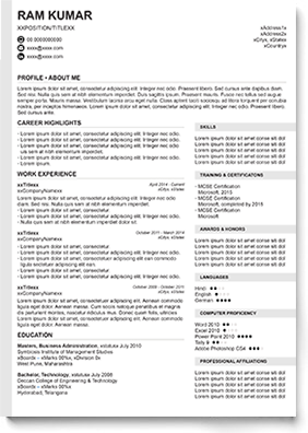 Resume Formats in Word and PDF in 2020 Resume format