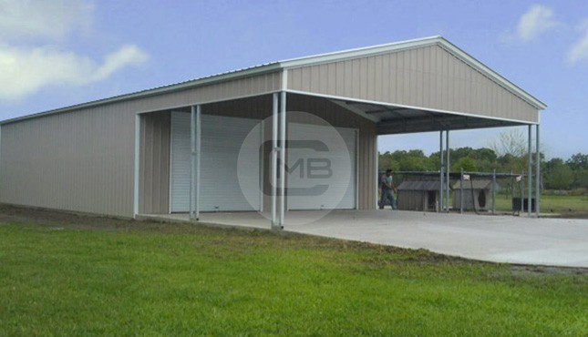 26x52 Large Custom Garage Metal Barn Central In 2020 Custom Garages Metal Building Prices Garage Design