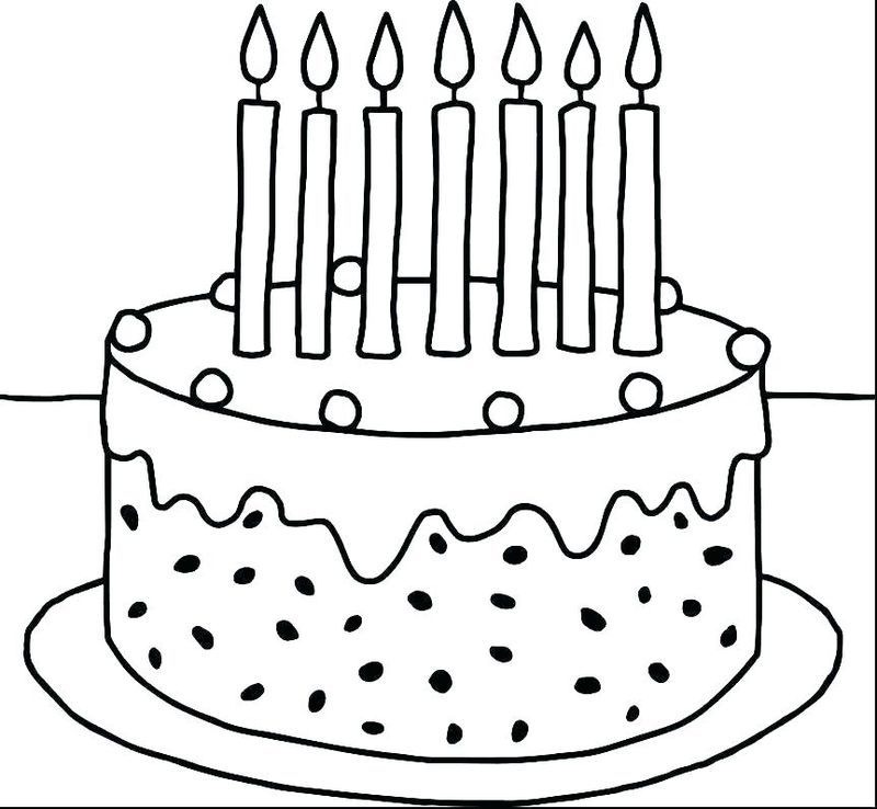 Collectin Of Birthday Cake Coloring Pages To Print Birthday Coloring Pages Kindergarten Coloring Pages Preschool Coloring Pages