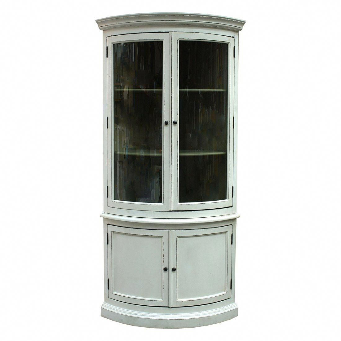 Tall Corner Cabinet | Furniture. White Wooden Tall Free ...