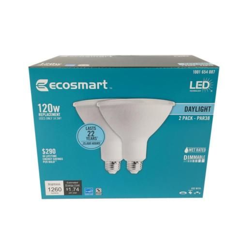 4pack Ecosmart 120w Equivalent Day Light Par38 Dimmable Led Flood Light Bulb Bulb Led Light Bulb
