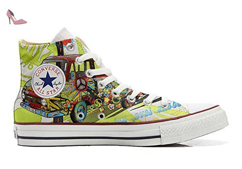 Make Your Shoes Converse Customized Adulte - chaussures coutume (produit artisanal) Blond girls - size EU 32 sJssc