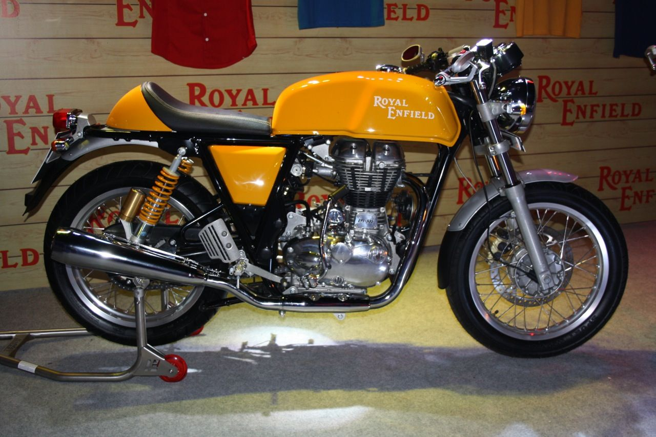 Wallpaper Royal Enfield Continental Gt Yellow Bike Images