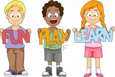 Illustration Of Children Holding Cutouts Cartoon Kids Kids School Children