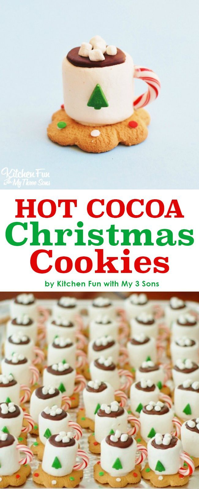 Adorable Hot Cocoa Christmas Cookies Made With Marshmallows Looks