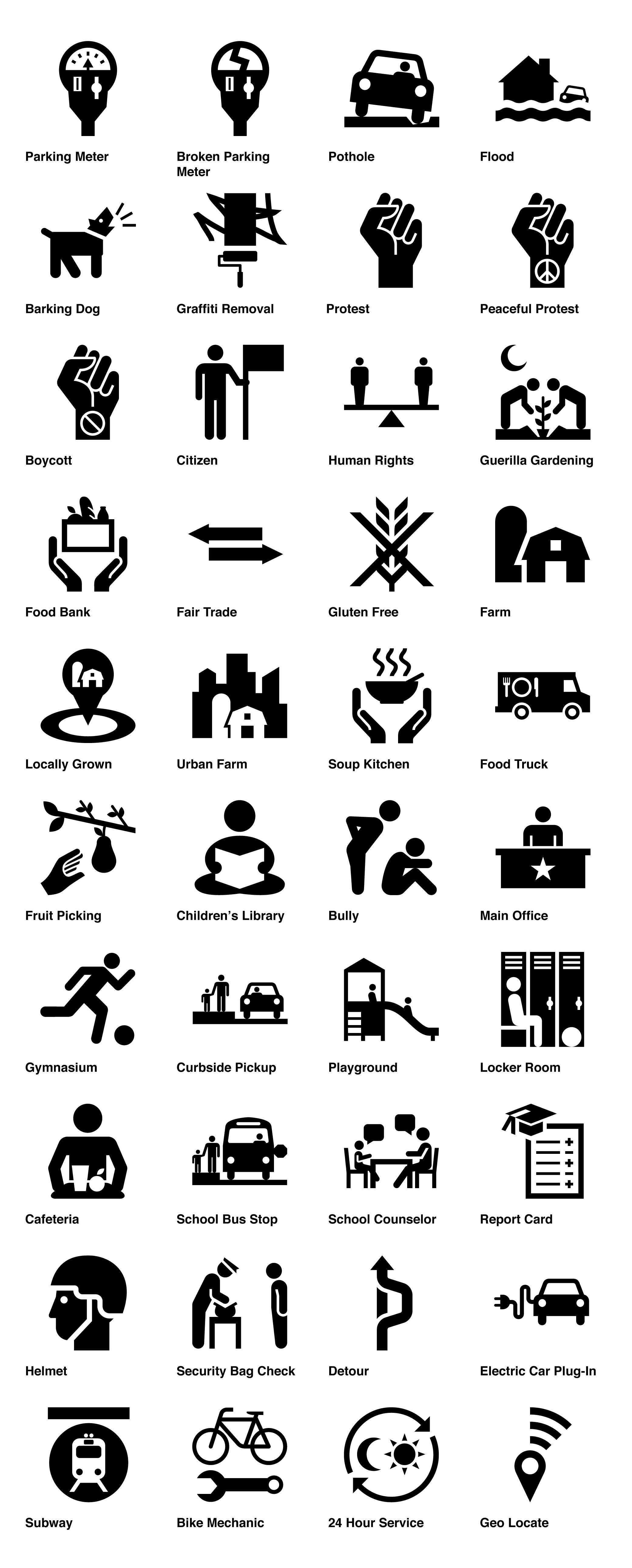 New icons signs at the noun project graphic inspiration civic symbol suite by code for america and noun project buycottarizona Choice Image