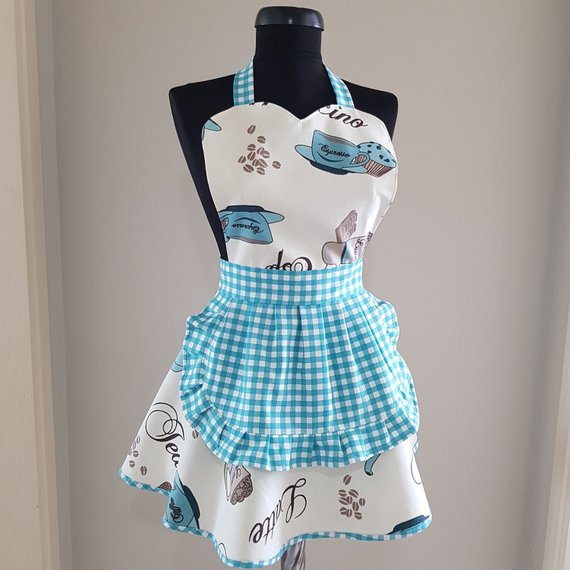 Cute apron - Sweet kitchen apron - Apron for womens - Cooking apron - Great gift idea for coffee lovers - Water repellent apron - Kitchen aprons - #Apron #aprons #Coffee #cooking #Cute #gift #Great #idea #Kitchen #Kitchenaprons #Lovers #repellent #Sweet #Water #Womens