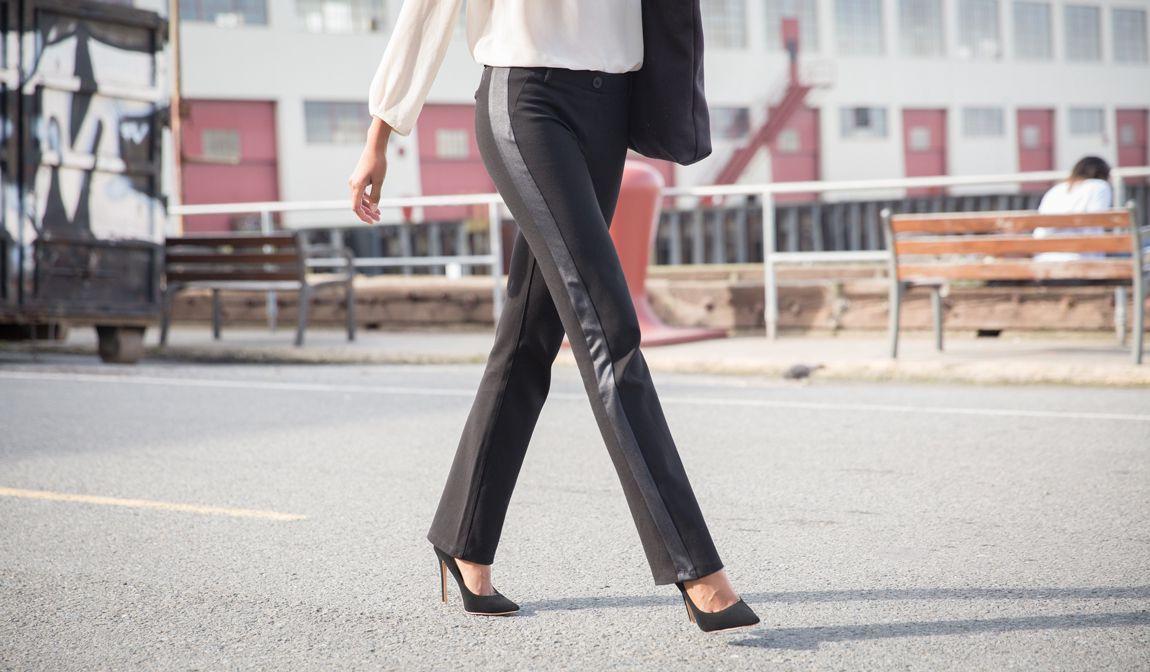 026d960ccbd90 Tuxedo Dress Pant Yoga Pants | Black Dress Yoga Pants (Tuxedo ...