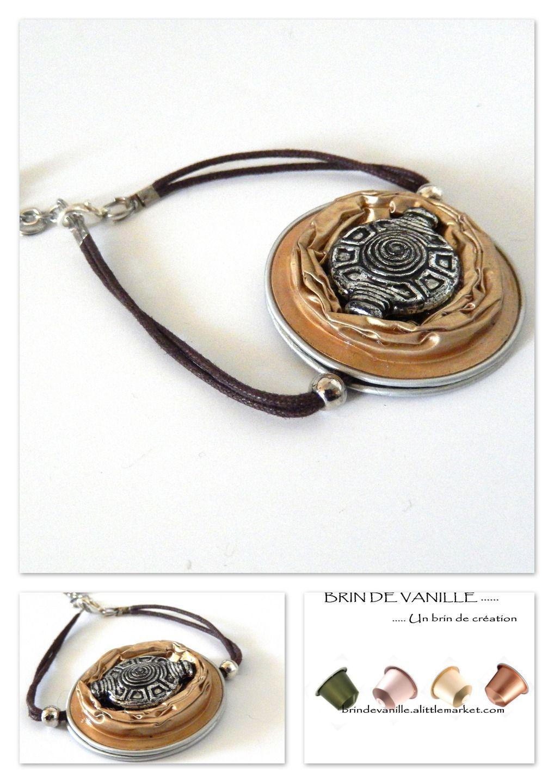 bracelet or pale en capsules nespresso bracelet par brindevanille manualida con capsulas. Black Bedroom Furniture Sets. Home Design Ideas