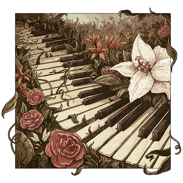 Illustration for the cover of a Piano Music CD