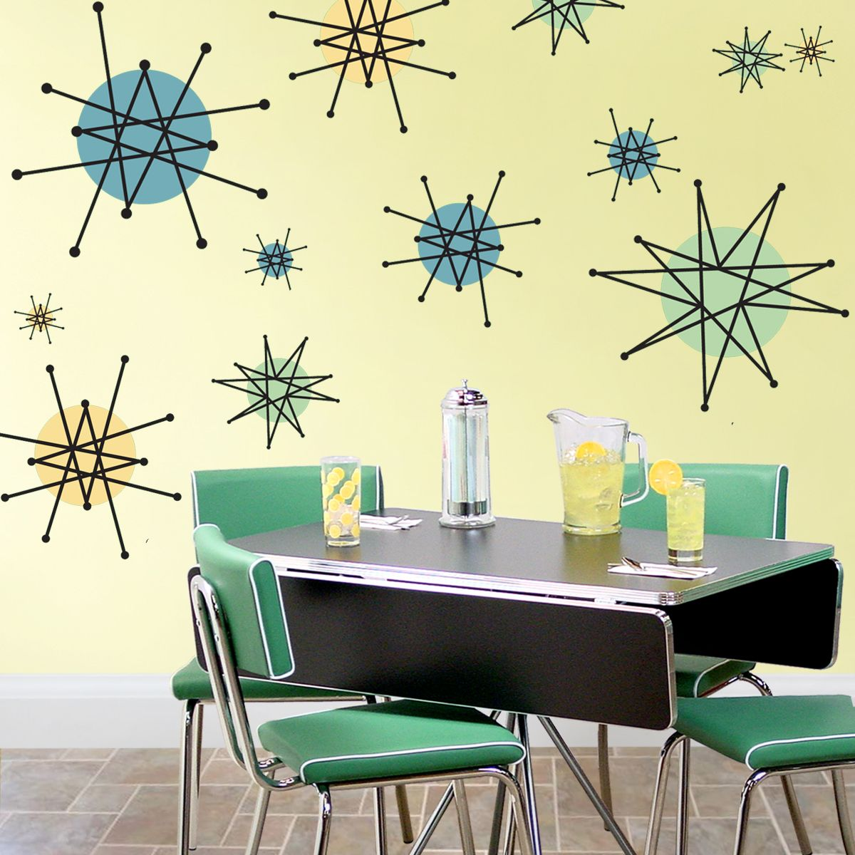 Quick Easy Retro Decorating Atomic Starburst Franciscan Style