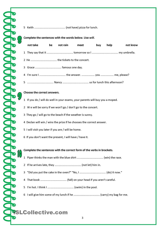Workbooks spanish future tense practice worksheets : VERB TENSES ACTIVITIES | ESL 2 | Pinterest | Verb tenses ...