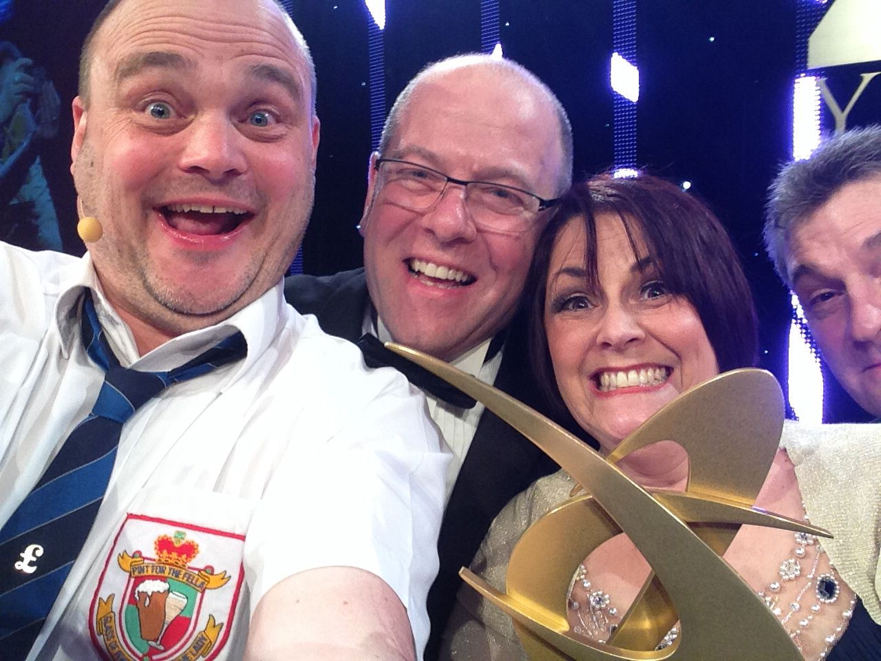 Selfie at the KBB Review awards with Al Murray