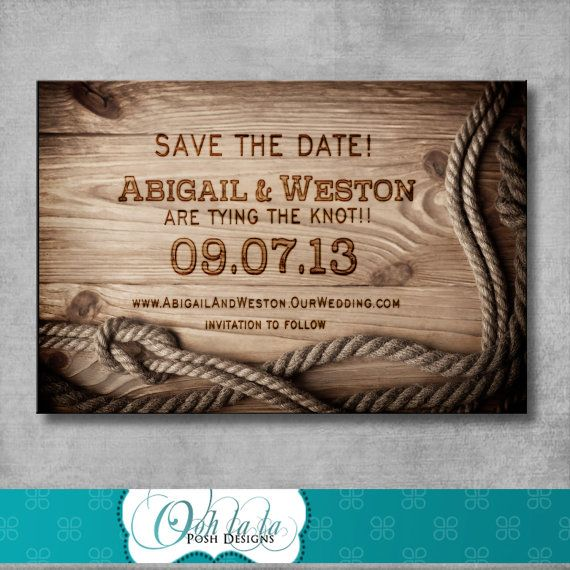 Rustic Save the Date  DIY  Printable  by OohlalaPoshDesigns, $15.00