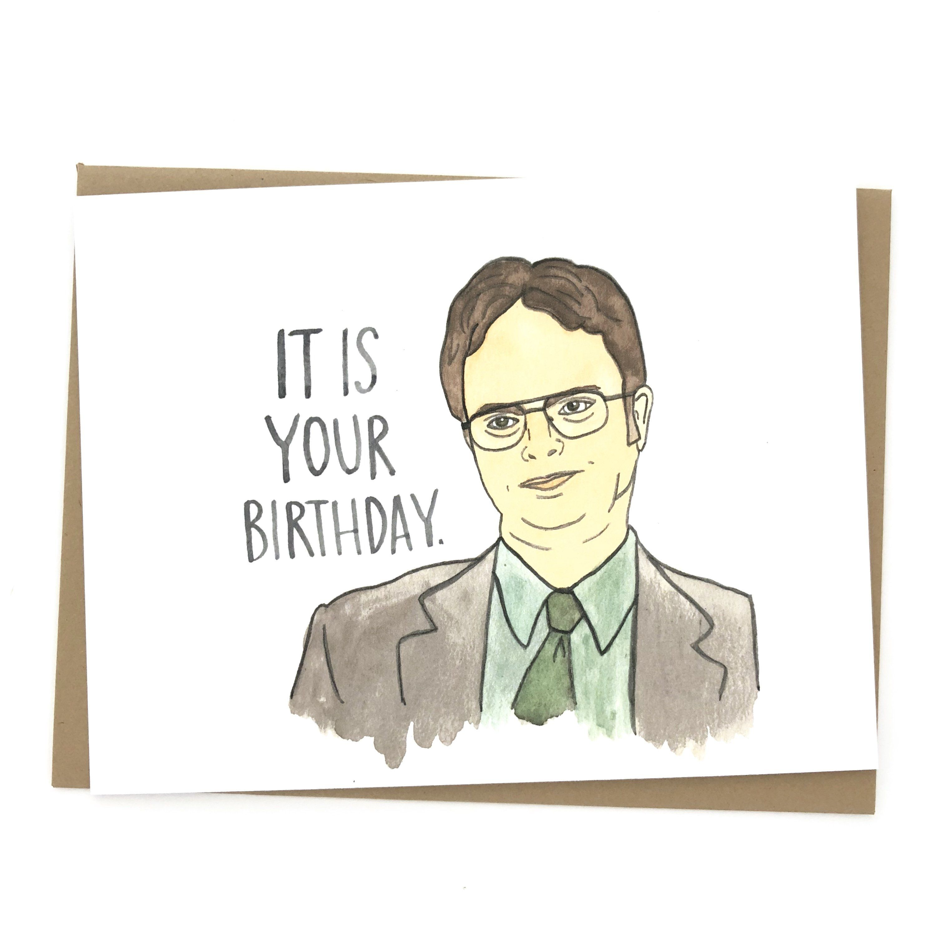 Dwight Schrute Birthday Card Wholesale Birthday Card Drawing