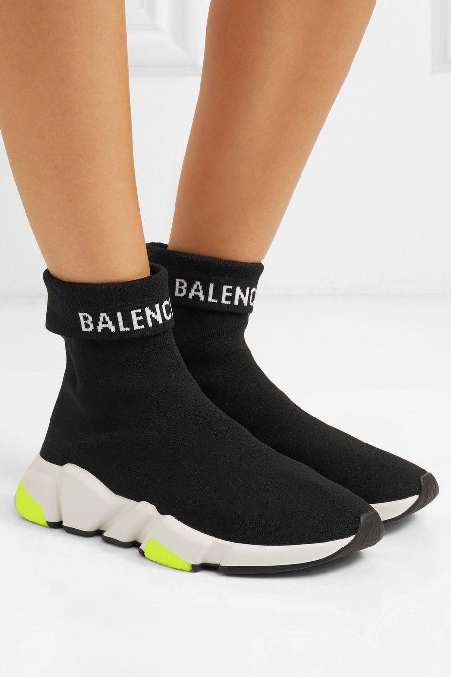 buy best buy offer discounts Balenciaga   Baskets montantes en maille stretch à logo ...
