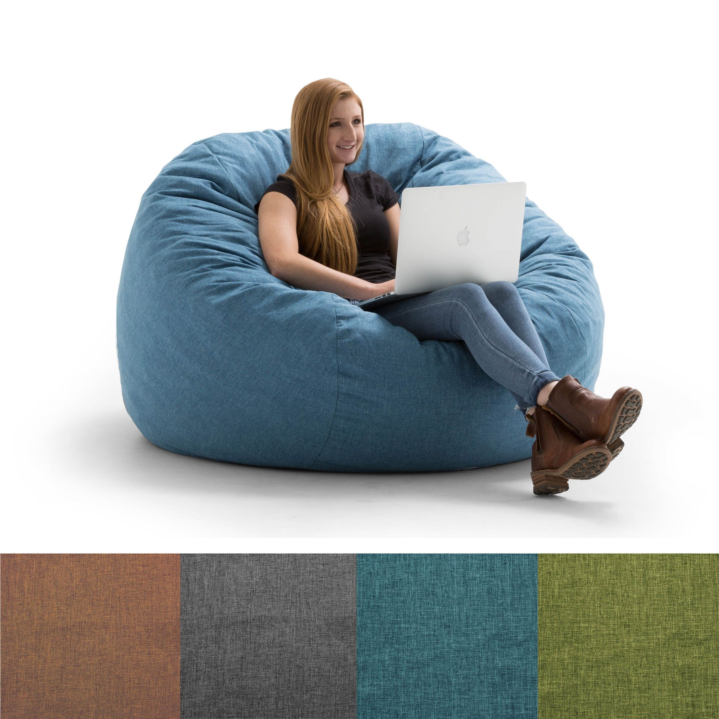 FufSack Big Joe Lux King Linen Memory Foam Bean Bag Chair Products