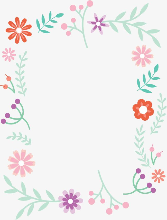Small Fresh Cute Borders Vector Png Small Fresh Lovely Flowers